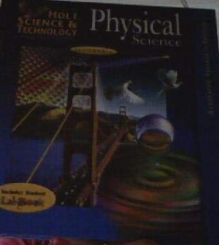 9780030556999: Holt Science & Technology: California Physical Science