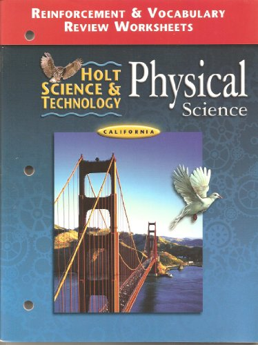 Worksheets Holt Science And Technology Worksheets 9780030557033 holt science technology physical reinforcement vocabulary review worksheets