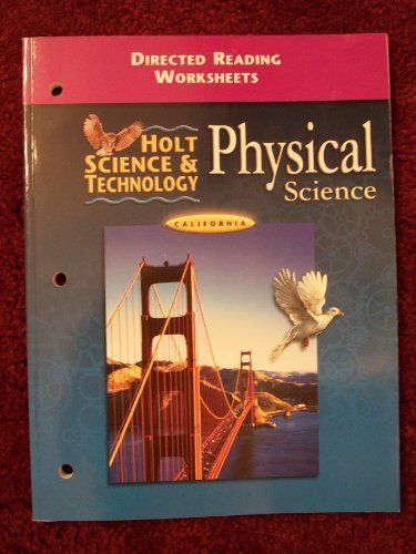Printables Holt Physical Science Worksheets holt science and technology physical directed reading worksheets california edition