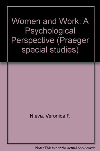9780030557613: Women and Work: A Psychological Perspective