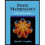 Finite Mathematics With Calculus: An Applied Approach: David E. Zitarelli,