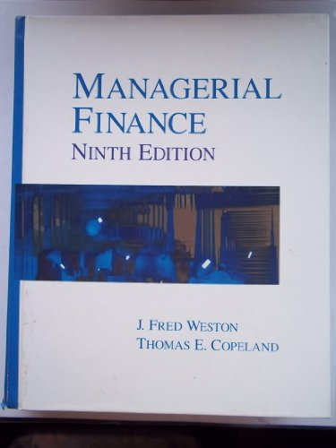 9780030558832: Managerial Finance, Ninth Edition