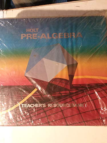9780030559020: Holt Pre-Algebra: Teacher's ResourceBank