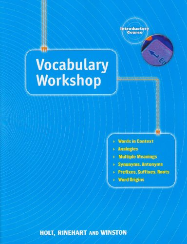 9780030560231: Elements of Language: Vocabulary Workshop Grade 6 Introductory Course