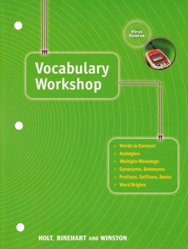 9780030560248: Holt Traditions Vocabulary Workshop: Vocab Workshop Grade 7