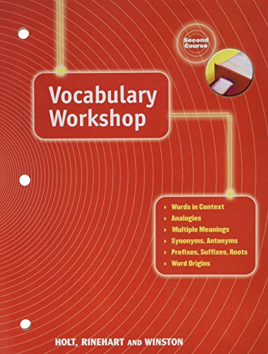 9780030560279: Elements of Language: Vocabulary Workshop Grade 8 Second Course (Holt Traditions Vocabulary Workshop)