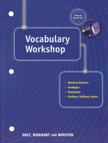9780030560286: Vocabulary Workshop (Elements of Language, Grade 9, 3rd Course)