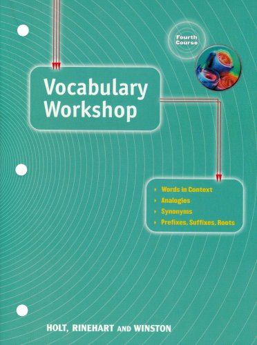 9780030560293: Vocabulary Workshop: Fourth Course (Elements of Language)