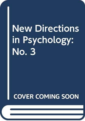 New Directions in Psychology 3: Mandler, George, Paul