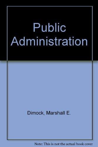 9780030562129: Public Administration