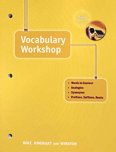Vocabulary Workshop: Fifth Course (Elements of Language): Holt Rinehart &