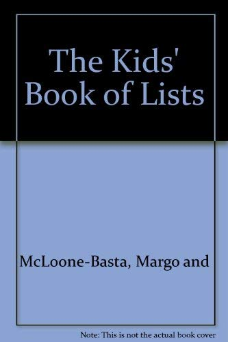 9780030562266: The Kids' Book of Lists
