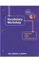 Elements Language Vocabulary Workshop AbeBooks