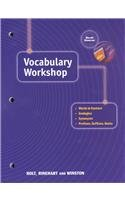 9780030562969: Elements of Language: Vocabulary Workshop Grade 12 Sixth Course