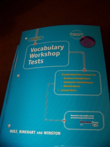 9780030562976: Elements of Language, Introductory Course, Vocabulary Workshop Test