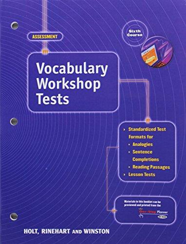 Elements of Language: Vocabulary Workshop Tests Grade