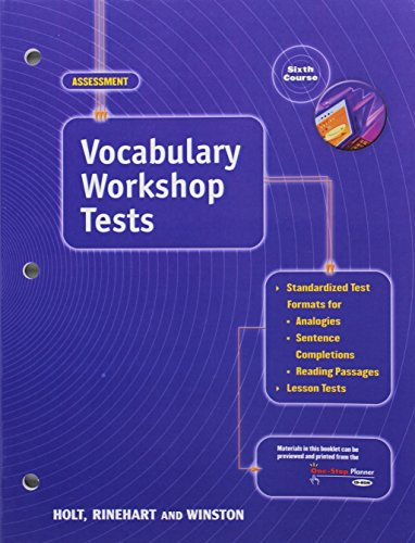 9780030563041: Elements of Language: Vocabulary Workshop Tests Grade 12 Sixth Course