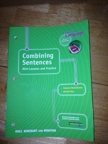 9780030563072: Holt Elements of Language: Combining Sentences Grade 7