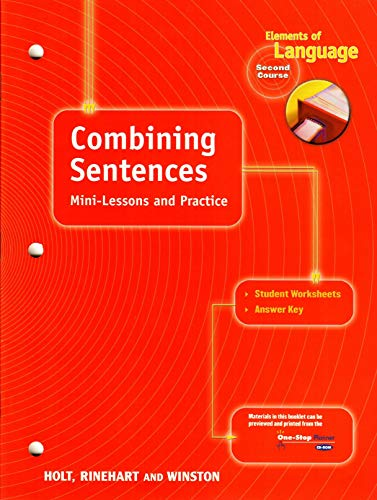 9780030563171: Sentences And Paragraphs: Skills Practice for Chapters 8-9 (Elements of Language, Grade 8, 2nd Course)