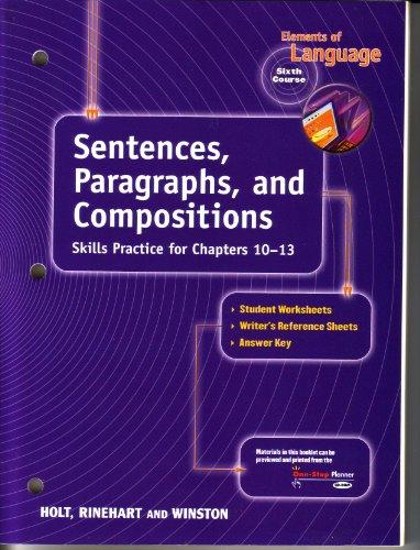 9780030563225: Sentences, Para & Comp Eolang 2001 G 12