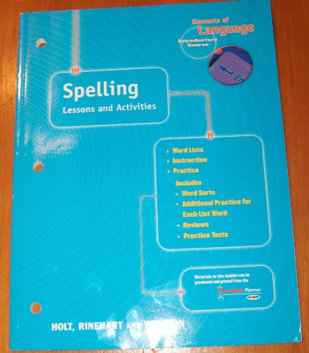 9780030563263: Elements of Language: Spelling Lessons and Activities Introductory Course