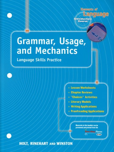Grammar, Usage and Mechanics Language Skills Practice (Elements of ...