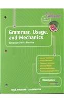Grammar, Usage, and Mechanics: Elements of Language,: HOLT, RINEHART AND
