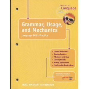 9780030563560: Holt Elements of Language, 5th Course: Grammar, Usage and Mechanics- Language Skills Practice, Grade 11