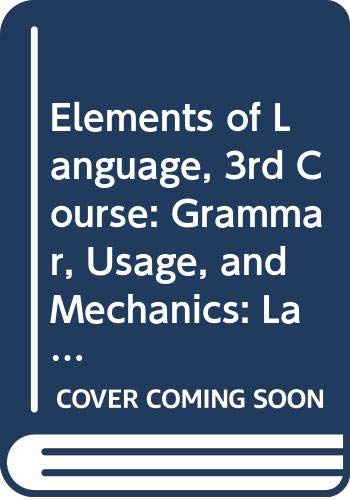 9780030563621: Elements of Language, 3rd Course: Grammar, Usage, and Mechanics: Language Skills Practice Answer Key