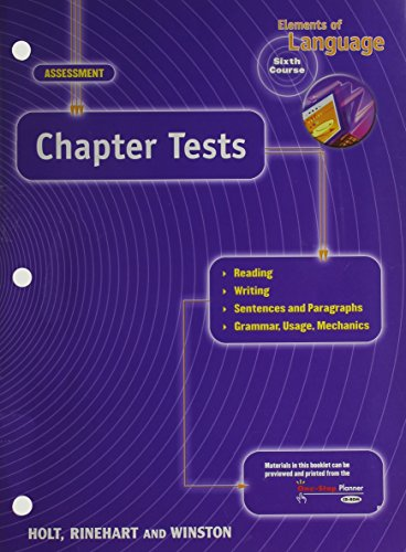 9780030563843: Ch Tests Eolang 2001 G 12