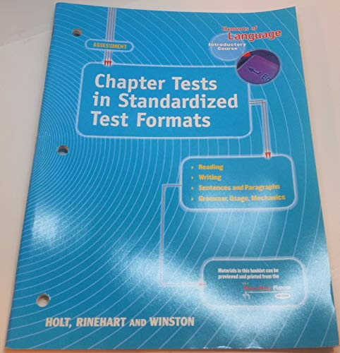 9780030563867: Elements of Language, Introductory Course, Chapter Tests in Standardized Test Formats