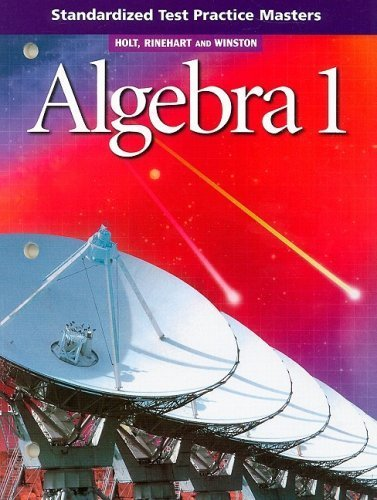 9780030564994: Algebra 1: Practice Workbook Answer Key