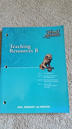9780030565243: World Literature: Teaching Resources B