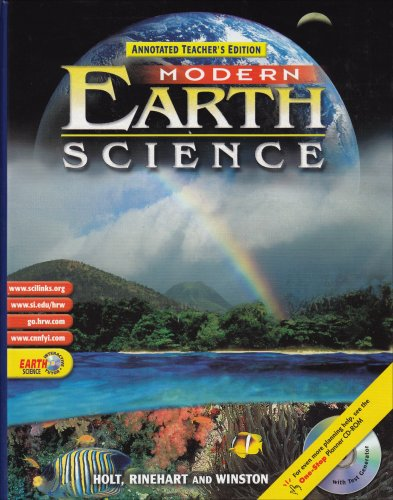Modern Earth Science, Annotated Teachers Edition: Sater, Robert J.