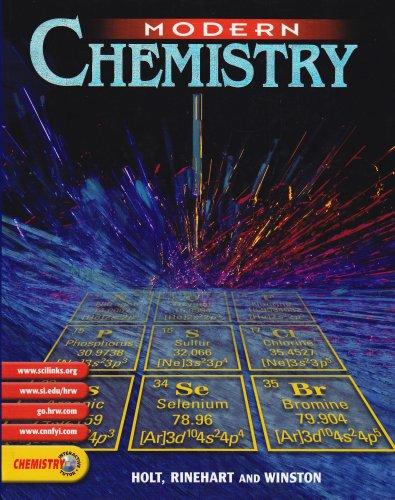 9780030565373: Modern Chemistry: PUPIL'S EDITION 2002