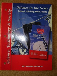 9780030565489: Science in the News Critical Thinking Worksheets Science Technology  & Society 2001