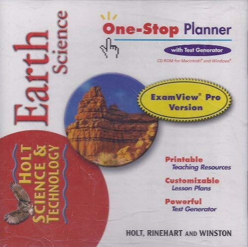9780030565618: Earth Science One Stop Planner Cd-rom
