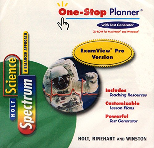 Science Spectrum a Balanced Approach One-Stop Planner: Holt