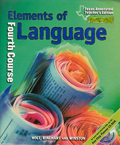 9780030566813: Elements of Language, 4th Course, Annotated Teacher's Edition