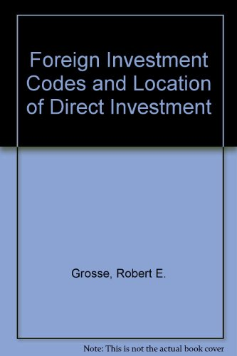 9780030570247: Foreign Investment Codes and Location of Direct Investment
