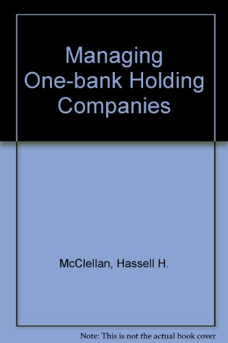 9780030570421: Managing One-bank Holding Companies
