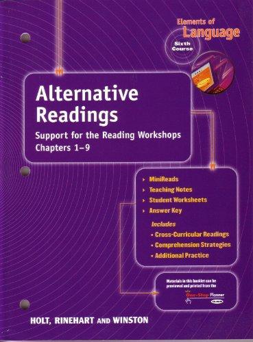 9780030573019: Holt Elements of Language: Alternative Readings Grade 12 (Elements of Language 2001)