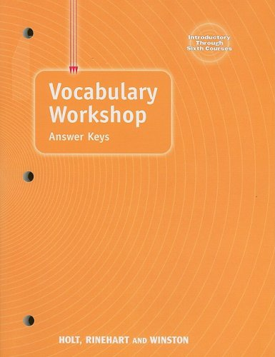 9780030574160: Elements of Language: Vocabulary Workshop Answer Keys