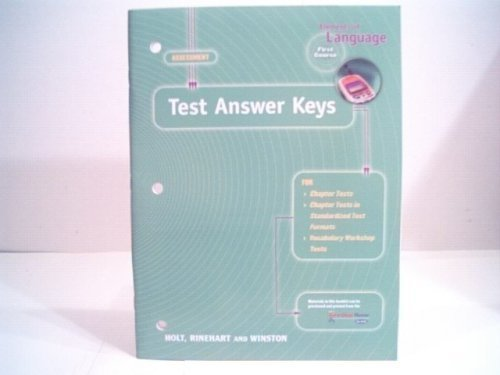 9780030574269: Elements of Language Assessment First Course Test Answer Keys