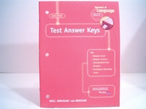 9780030574276: Elements of Language - Second Course - ASSESSMENT (Test Answer Keys)