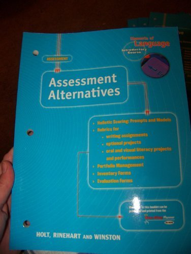 9780030575662: Assessment Alternatives (Elements of Language Series)