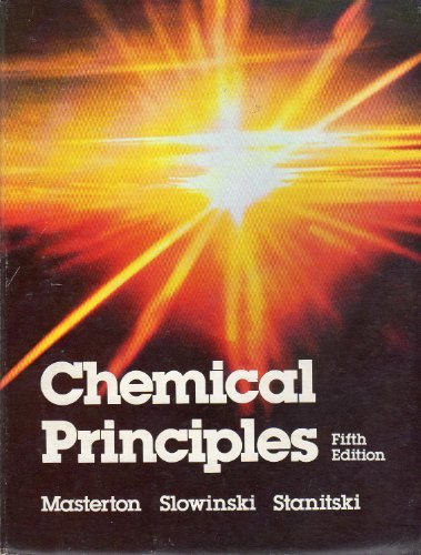9780030578045: Chemical Principles (Saunders golden sunburst series)