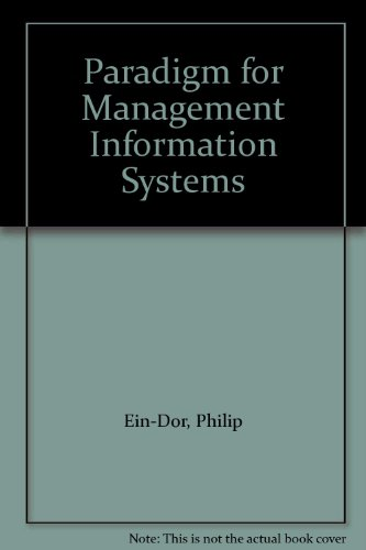 9780030580178: Paradigm for Management Information Systems