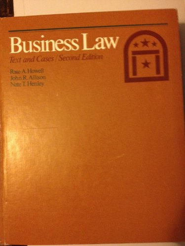 9780030581113: Business law: Text and cases