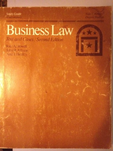 9780030581137: Study Guide to Accompany Business Law